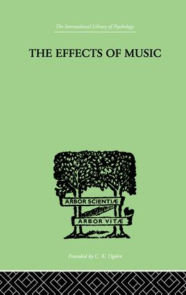 The Effects of Music: A series of Essays, 1st Edition (Paperback) book cover