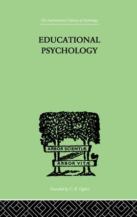 Educational Psychology: Its problems and methods, 1st Edition (Paperback) book cover