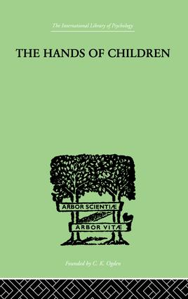 The Hands Of Children: AN INTRODUCTION TO PSYCHO-CHIROLOGY, 1st Edition (Paperback) book cover