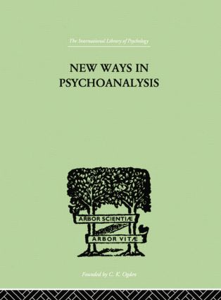 New Ways in Psychoanalysis: 1st Edition (Paperback) book cover