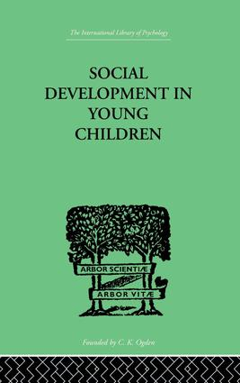 Social Development In Young Children: 1st Edition (Paperback) book cover