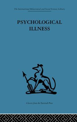 Psychological Illness: A community study, 1st Edition (Paperback) book cover