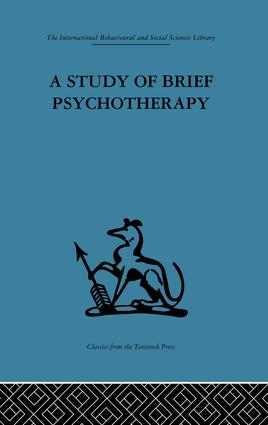 A Study of Brief Psychotherapy: 1st Edition (Paperback) book cover