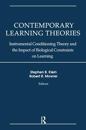 Contemporary Learning Theories: Volume II: Instrumental Conditioning Theory and the Impact of Biological Constraints on Learning book cover