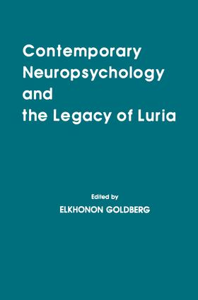 Contemporary Neuropsychology and the Legacy of Luria book cover