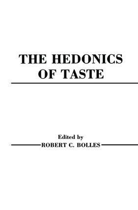 Hedonics of Taste: 1st Edition (Paperback) book cover