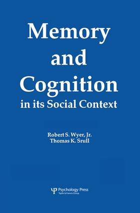Memory and Cognition in Its Social Context (Hardback) book cover
