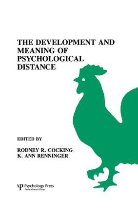 The Development and Meaning of Psychological Distance (Hardback) book cover