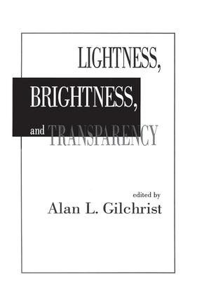 Lightness, Brightness and Transparency (e-Book) book cover