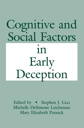 Cognitive and Social Factors in Early Deception: 1st Edition (Hardback) book cover