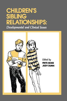 Children's Sibling Relationships: Developmental and Clinical Issues (Hardback) book cover