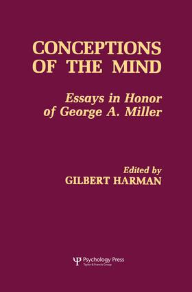 Conceptions of the Human Mind: Essays in Honor of George A. Miller, 1st Edition (Paperback) book cover