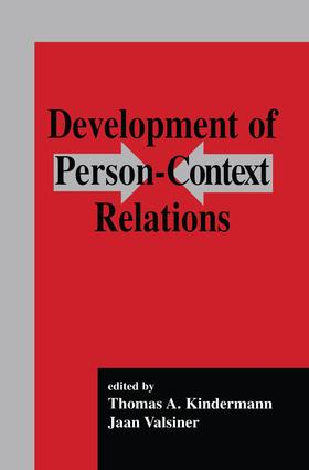 Development of Person-context Relations: 1st Edition (Paperback) book cover