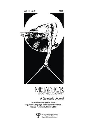 Figurative Language and Cognitive Science: A Special Issue of metaphor and Symbolic Activity book cover