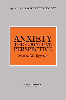 Anxiety: The Cognitive Perspective (e-Book) book cover