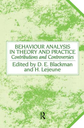Behaviour Analysis in Theory and Practice: Contributions and Controversies book cover