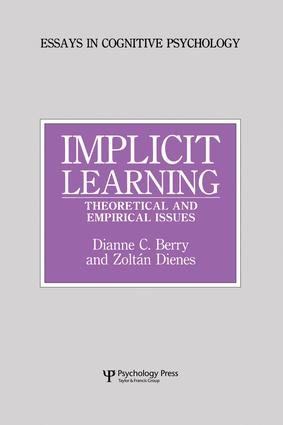 Implicit Learning: Theoretical and Empirical Issues, 1st Edition (Paperback) book cover