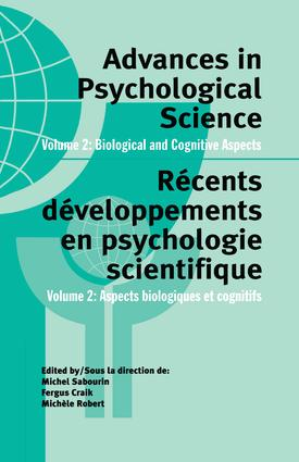 Advances in Psychological Science, Volume 2: Biological and Cognitive Aspects, 1st Edition (Paperback) book cover