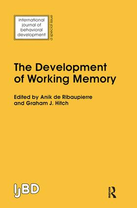 The Development of Working Memory: A Special Issue of the International Journal of Behavioural Development, 1st Edition (Paperback) book cover