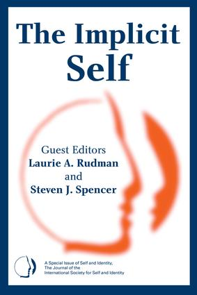 The Implicit Self: A Special Issue of Self and Identity book cover