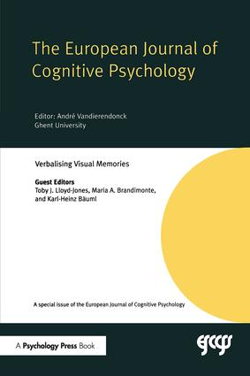 Verbalising Visual Memories: A Special Issue of the European Journal of Cognitive Psychology, 1st Edition (Paperback) book cover