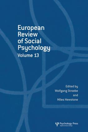 European Review of Social Psychology: Volume 13: 1st Edition (Paperback) book cover