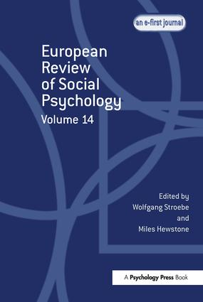 European Review of Social Psychology: Volume 14: 1st Edition (Paperback) book cover