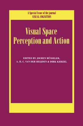 Visual Space Perception and Action: A Special Issue of Visual Cognition book cover
