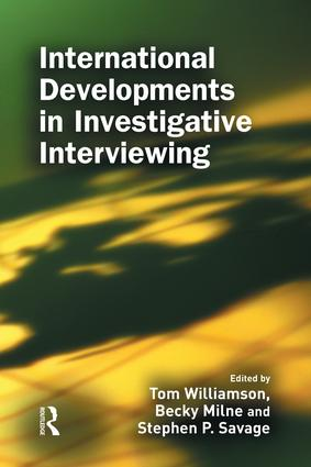 International Developments in Investigative Interviewing: 1st Edition (e-Book) book cover