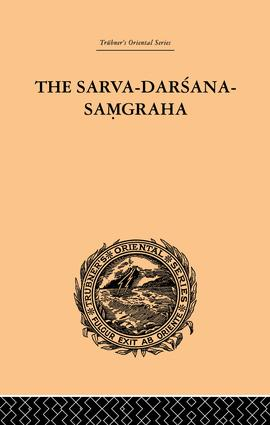 The Sarva-Darsana-Pamgraha: Or Review of the Different Systems of Hindu Philosophy, 1st Edition (Paperback) book cover