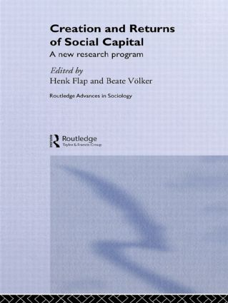 Creation and Returns of Social Capital (Hardback) book cover