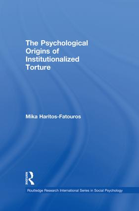 The Psychological Origins of Institutionalized Torture (e-Book) book cover