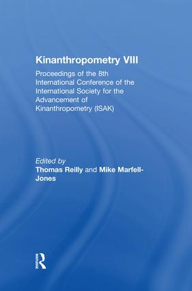 Kinanthropometry VIII: Proceedings of the 8th International Conference of the International Society for the Advancement of Kinanthropometry (ISAK), 1st Edition (Paperback) book cover