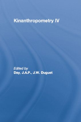 Kinanthropometry IV book cover
