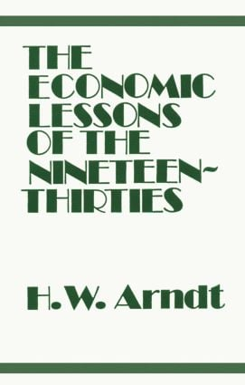 Economic Lessons of the 1930s: 1st Edition (Paperback) book cover