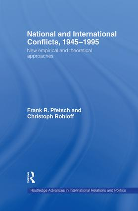 National and International Conflicts, 1945-1995: New Empirical and Theoretical Approaches, 1st Edition (Paperback) book cover