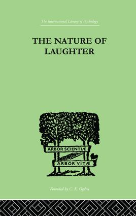 The Nature Of Laughter: 1st Edition (Paperback) book cover