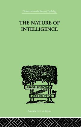 The Nature of Intelligence: 1st Edition (Paperback) book cover