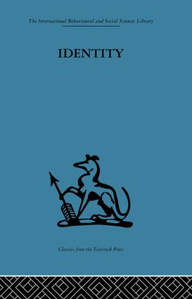 Identity: Mental health and value systems, 1st Edition (Paperback) book cover