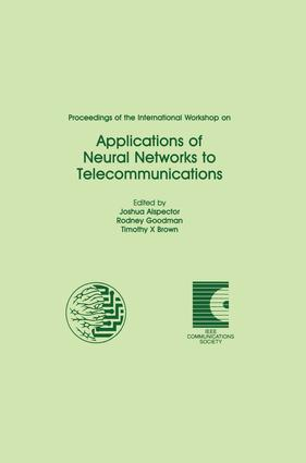 Proceedings of the International Workshop on Applications of Neural Networks to Telecommunications (Hardback) book cover