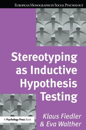 Stereotyping as Inductive Hypothesis Testing (e-Book) book cover
