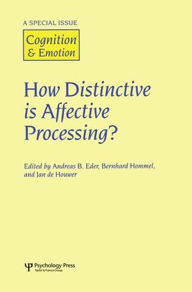 How Distinctive is Affective Processing?: A Special Issue of Cognition and Emotion, 1st Edition (Paperback) book cover