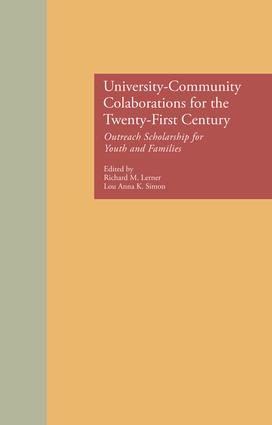 University-Community Collaborations for the Twenty-First Century: Outreach Scholarship for Youth and Families book cover
