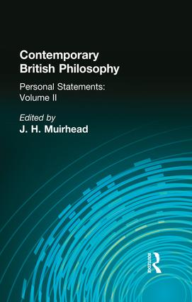 Contemporary British Philosophy: Personal Statements Second Series, 1st Edition (Paperback) book cover