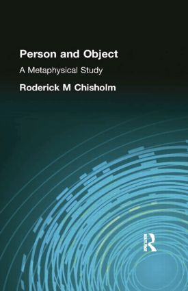 Person and Object: A Metaphysical Study, 1st Edition (Paperback) book cover