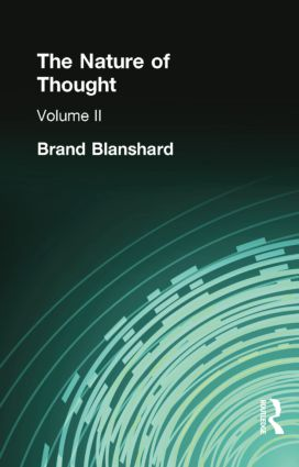 The Nature of Thought: Volume II, 1st Edition (Paperback) book cover