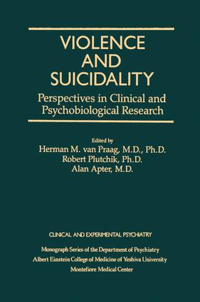 Violence And Suicidality : Perspectives In Clinical And Psychobiological Research: Clinical And Experimental Psychiatry, 1st Edition (Paperback) book cover
