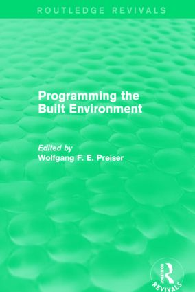 Programming the Built Environment (Routledge Revivals): 1st Edition (Paperback) book cover
