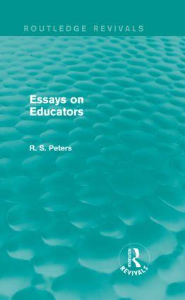 Essays on Educators (Routledge Revivals): 1st Edition (Hardback) book cover