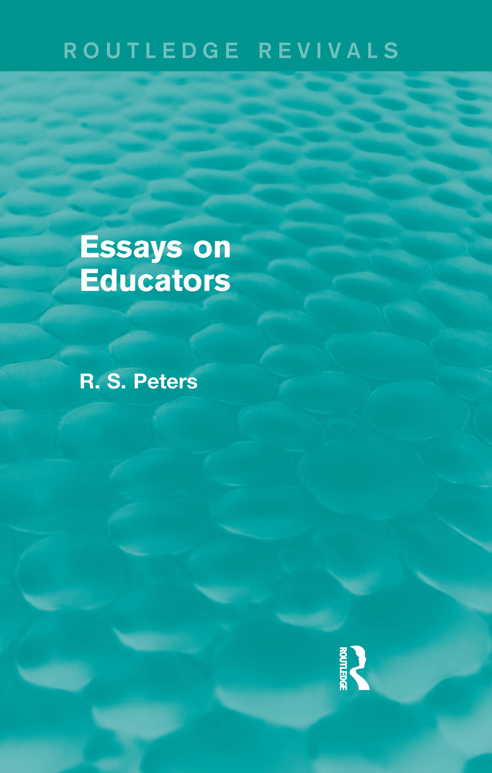 Essays on Educators (Routledge Revivals)